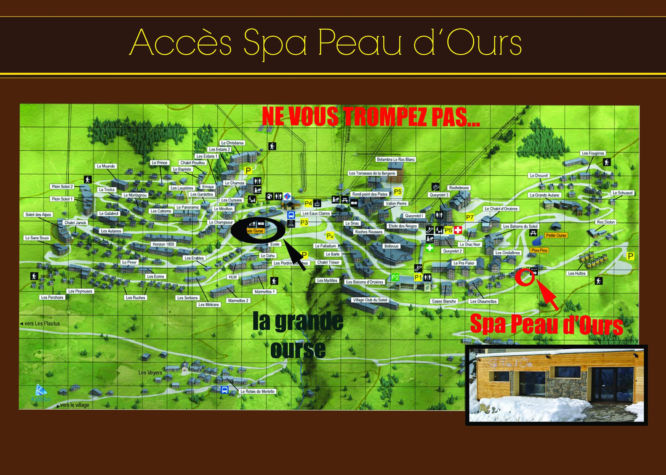 plan accès spa peau d'ours
